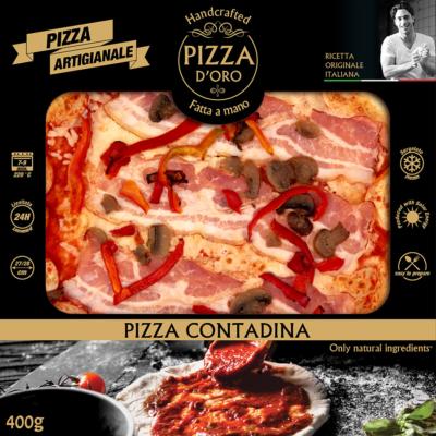 Pizza d'oro Contadina bacon-gomba-paprikacsík 10 x 400g