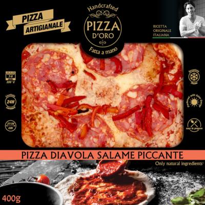 Pizza d'oro Diavola szalámi-paprikacsík 10 x 400g