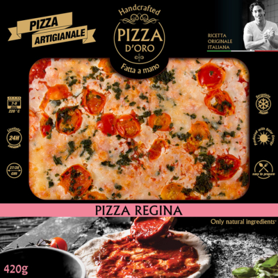 Pizza d'oro Regina paradicsomkarika-bazsalikom 10 x 420g