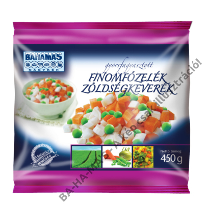 BAHAMAS finomfőzelék zöldségkeverék 450g