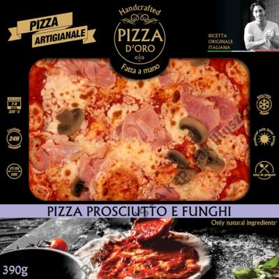 Pizza d'oro sonkás-gombás 10 x 390g