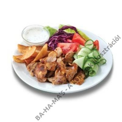 Gyros hús készresütött csirkecomb filéből 1,5 kg