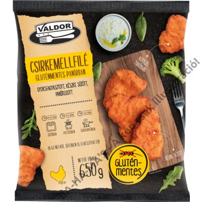 VALDOR csirkemellfilé gluténmentes panírban 650g